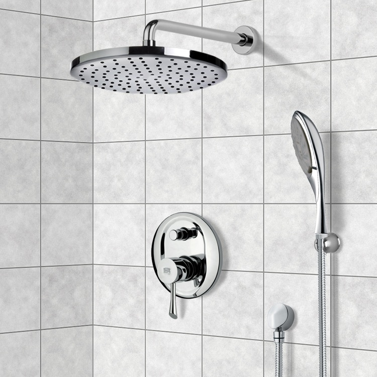 Shower Faucet, Remer SFH6083-8, Chrome Shower System with 8