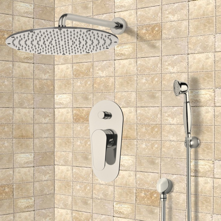 Remer SFH6090-NP By Nameek\'s Orsino Satin Nickel Shower System with ...