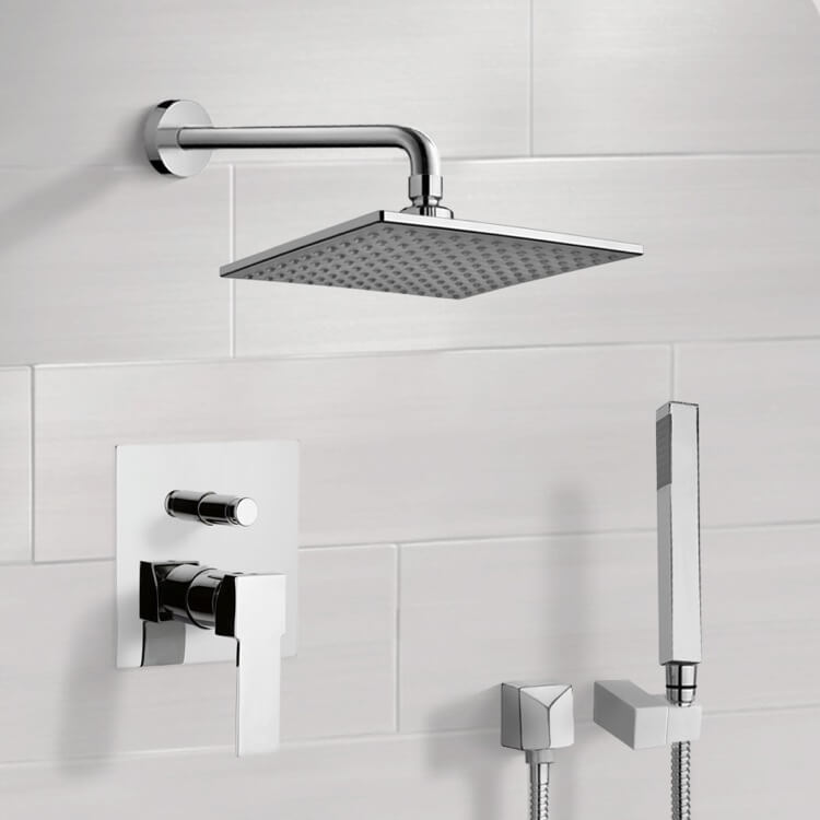 Shower Faucet, Remer SFH6110, Chrome Shower System with 8