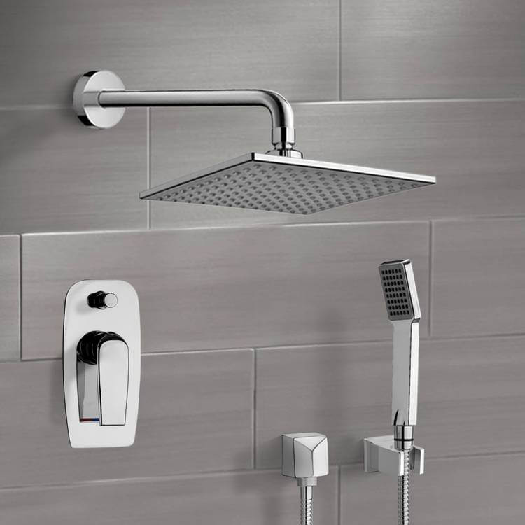 Shower Faucet, Remer SFH6111, Chrome Shower System with 8