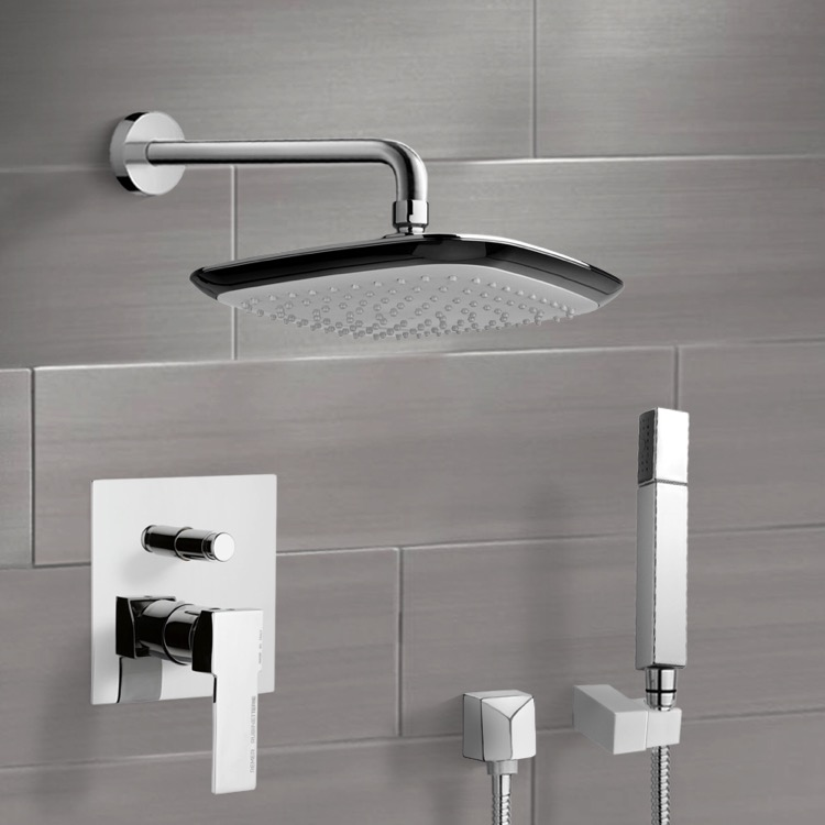 Shower Faucet, Remer SFH6114, Chrome Shower System with 9