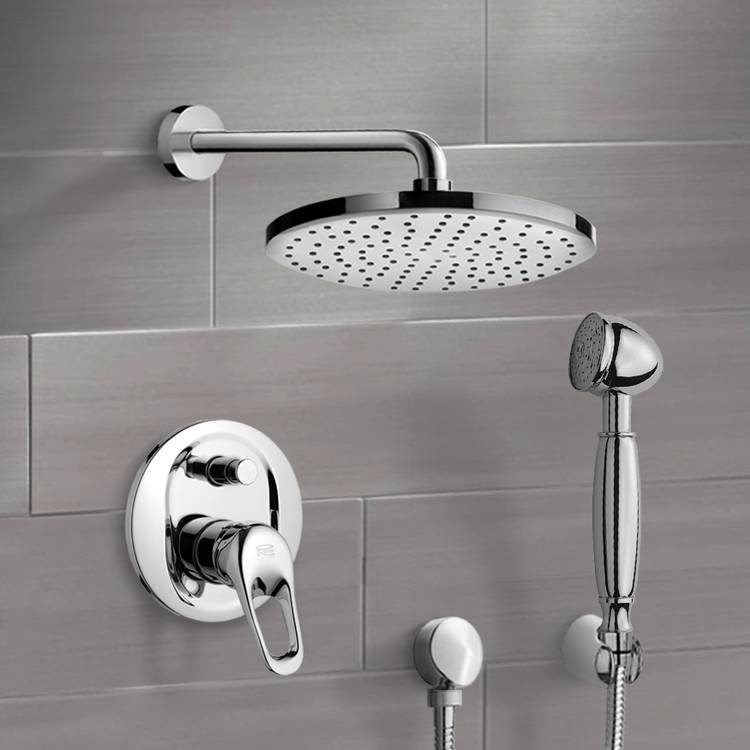 Shower Faucet, Remer SFH6141-8, Chrome Shower System with 8