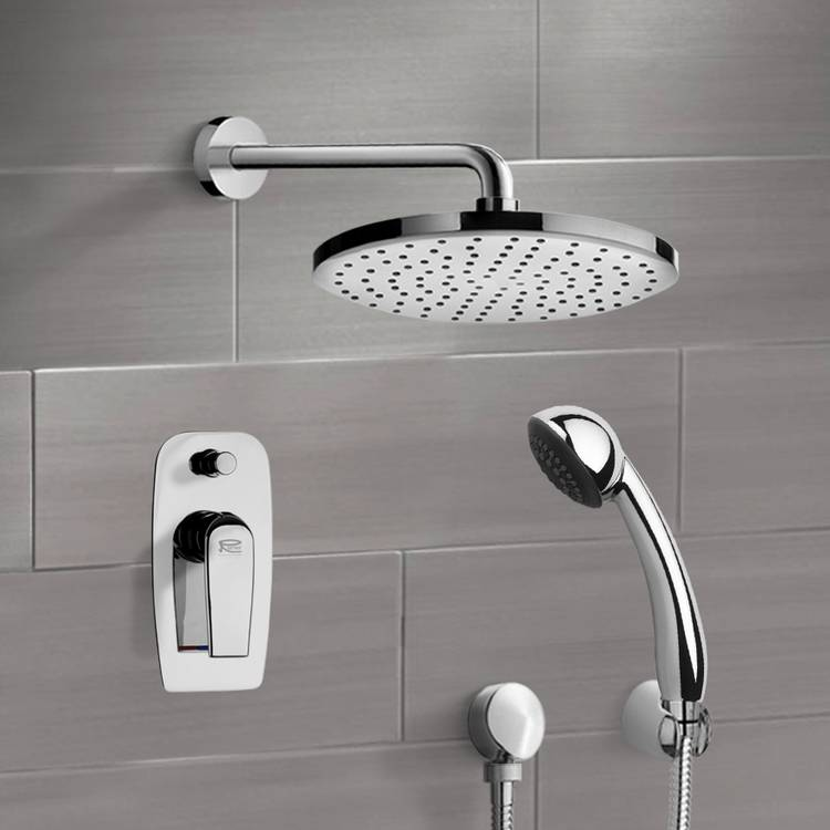 Shower Faucet, Remer SFH6146-8, Chrome Shower System with 8