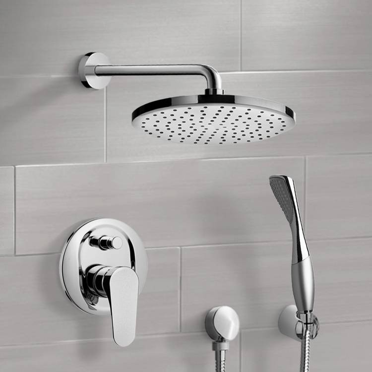 Shower Faucet, Remer SFH6149-8, Chrome Shower System with 8