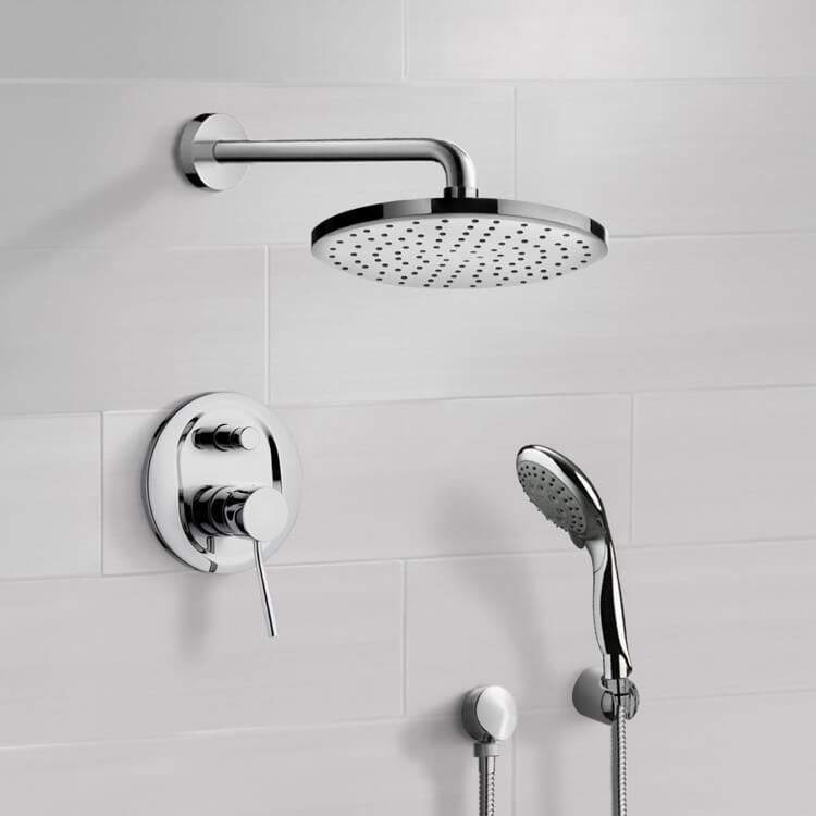 Shower Faucet, Remer SFH6166-8, Chrome Shower System with 8