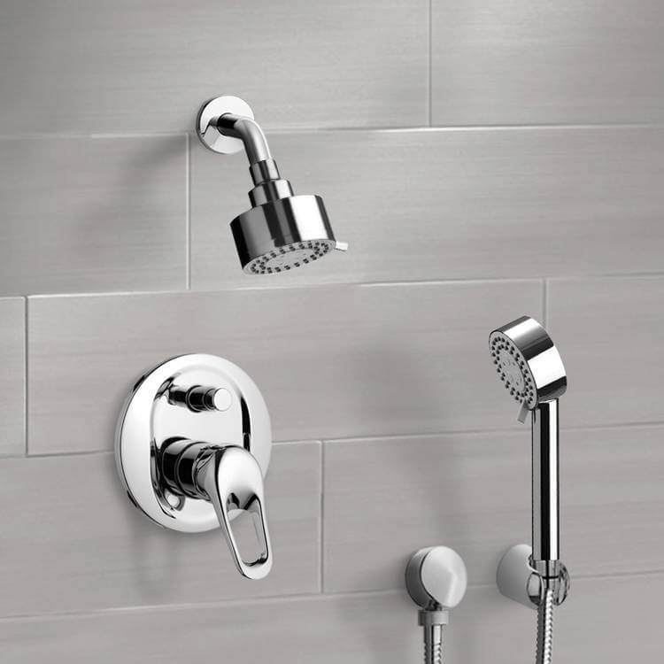 Shower Faucet, Remer SFH6169, Chrome Shower System with 3