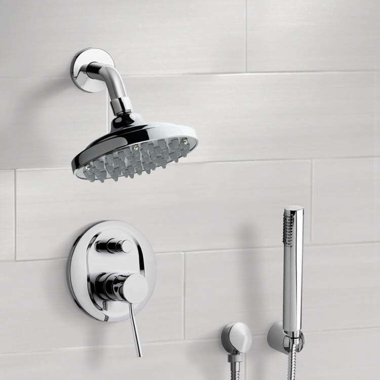 Shower Faucet, Remer SFH6180, Chrome Shower System with 6