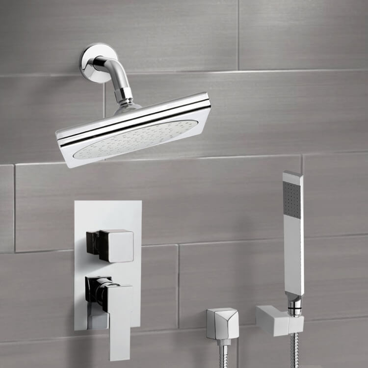 Shower Faucet, Remer SFH6193, Chrome Shower System with 9