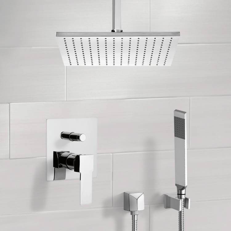 Shower Faucet, Remer SFH6505-CR, Chrome Shower System with Ceiling 12