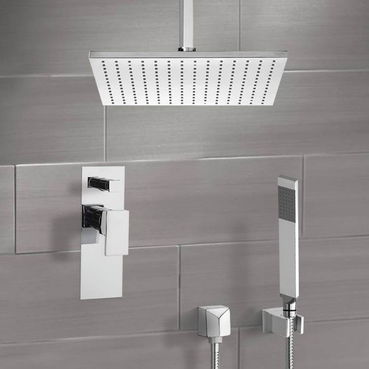 Shower Faucet, Remer SFH6506-CR, Chrome Shower System with Ceiling 12