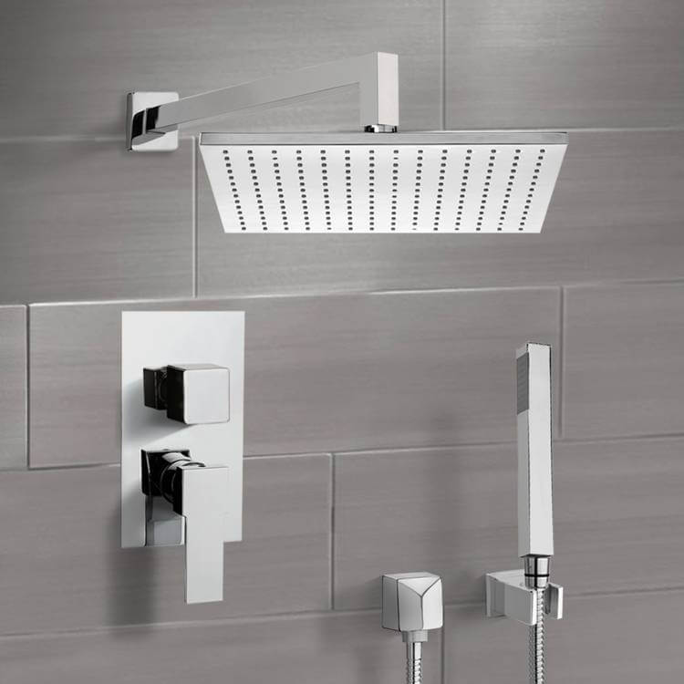 Shower Faucet, Remer SFH6509-CR, Chrome Shower System with 12