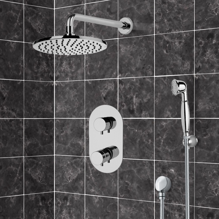 Shower Faucet, Remer SFH6537, Thermostatic Shower System With 8