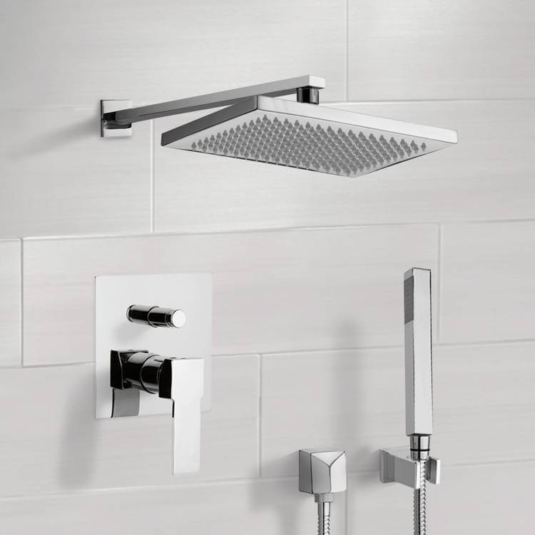Shower Faucet, Remer SFH6544-CR, Chrome Shower System with 9.5