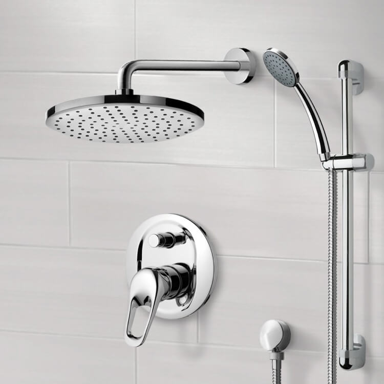 Shower Faucet, Remer SFR06-8, Chrome Shower System with 8