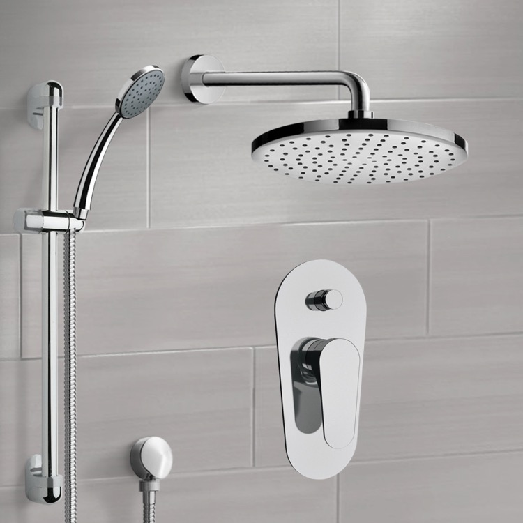 Shower Faucet, Remer SFR09-8, Chrome Shower System with 8