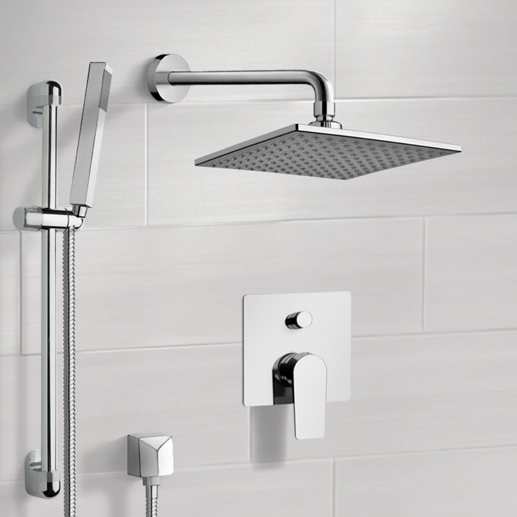 Shower Faucet, Remer SFR11, Chrome Shower System with 8