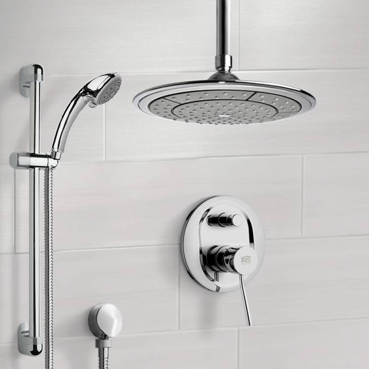 Shower Faucet, Remer SFR7001, Chrome Shower System with 9
