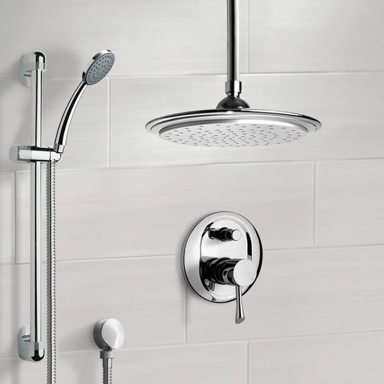 Shower Faucet, Remer SFR7008, Chrome Shower System with 9