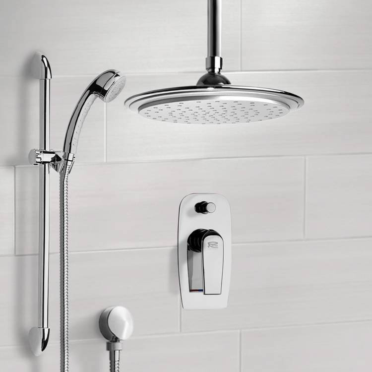 Shower Faucet, Remer SFR7012, Chrome Shower System with 9