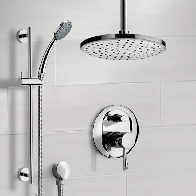 Shower Faucet, Remer SFR7014-8, Chrome Shower System with 8
