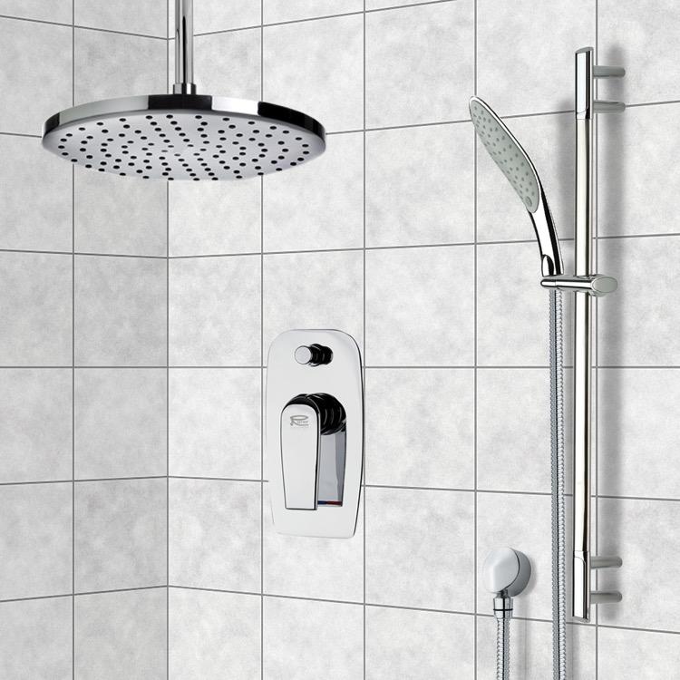Shower Faucet, Remer SFR7015-8, Chrome Shower System with 8
