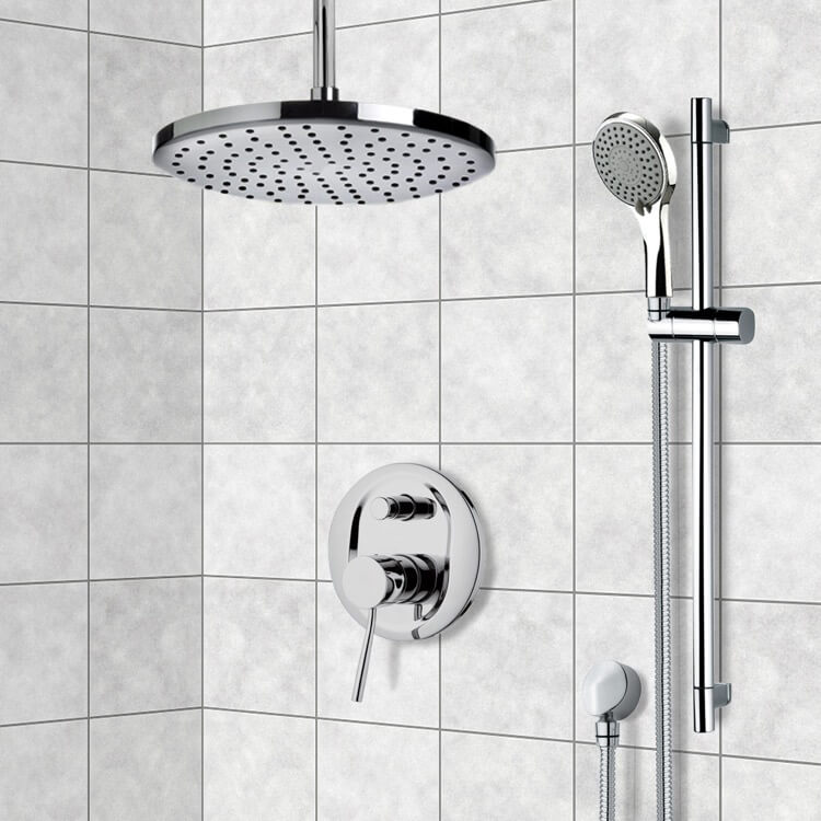 Shower Faucet, Remer SFR7016-8, Chrome Shower System with 8