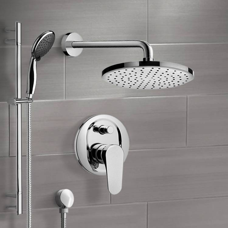 Shower Faucet, Remer SFR7048, Chrome Shower System With 10