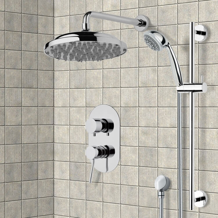 Shower Faucet, Remer SFR7053, Chrome Shower System with 9