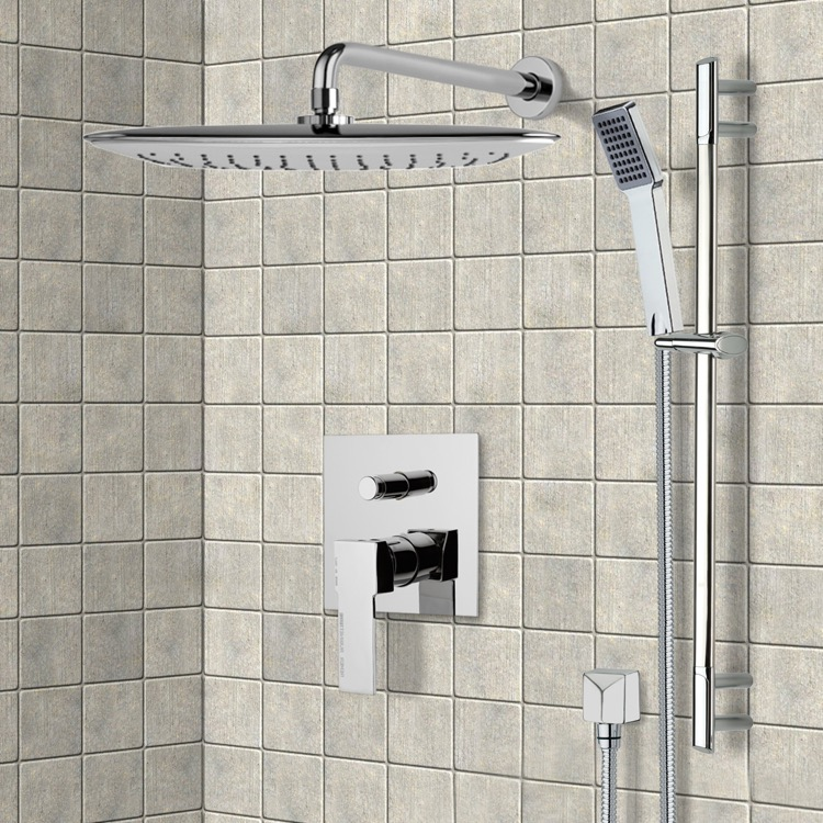 Chrome Shower System with 14\