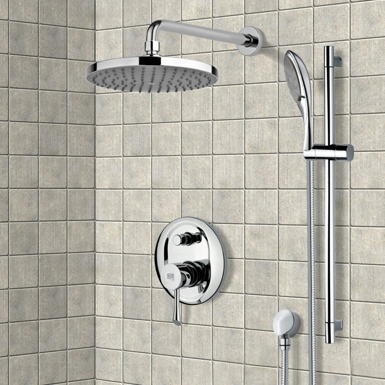 Shower Faucet, Remer SFR7143-8, Chrome Shower System with 8