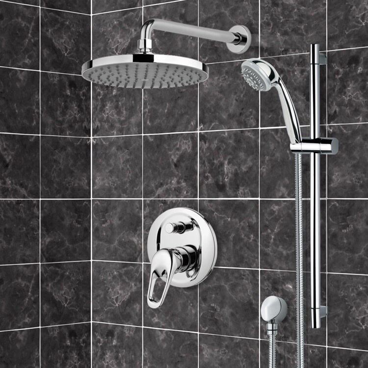 Shower Faucet, Remer SFR7150-8, Chrome Shower System with 8