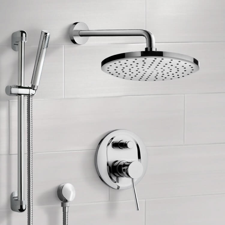 Shower Faucet, Remer SFR7151-8, Chrome Shower System with 8