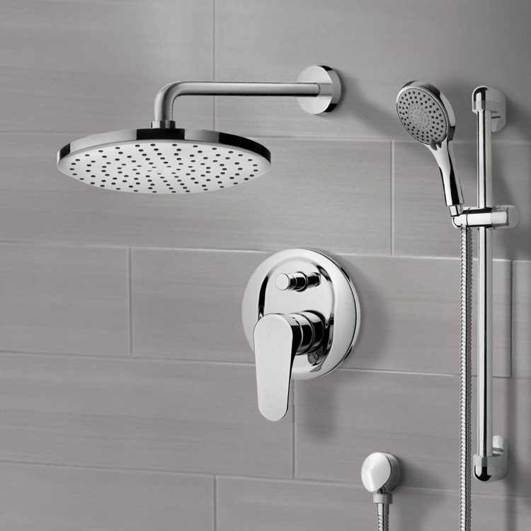 Shower Faucet, Remer SFR7163-8, Chrome Shower System with 8