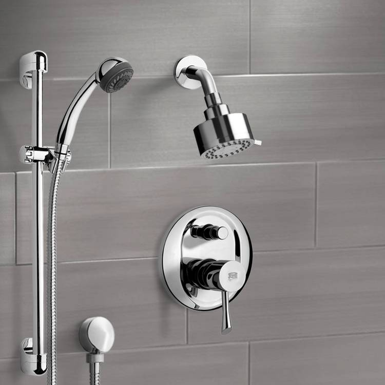 Remer SFR7172 By Nameek\'s Rendino Chrome Shower System with 3\