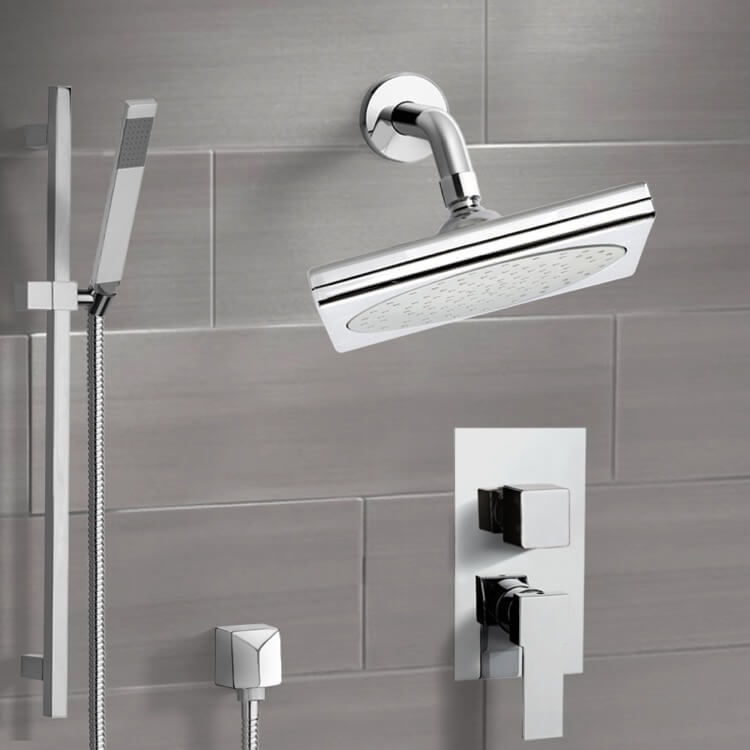 Shower Faucet, Remer SFR7193, Chrome Shower System with 9