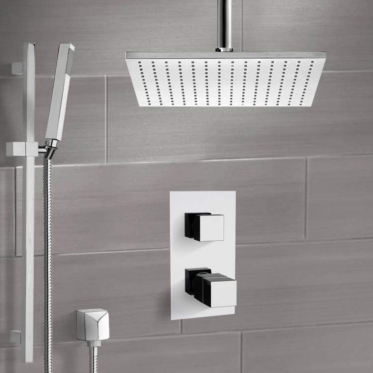 Shower Faucet, Remer SFR7401-CR, Chrome Shower System with Ceiling 12