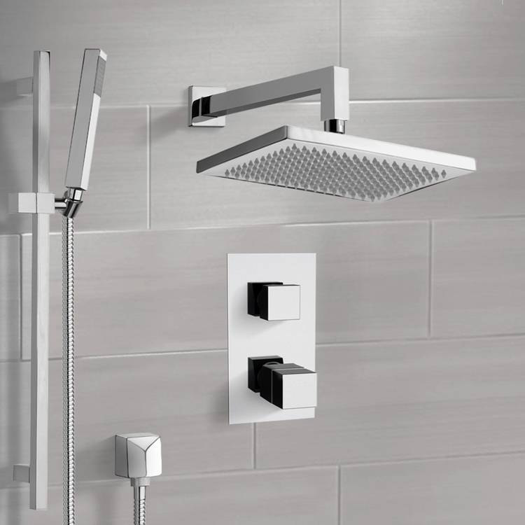 Shower Faucet, Remer SFR7402-CR, Chrome Shower System with 9.5