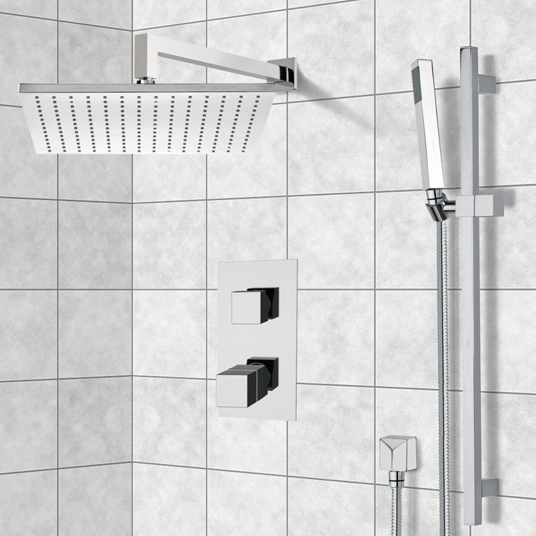 Shower Faucet, Remer SFR7403-CR, Chrome Shower System with 12
