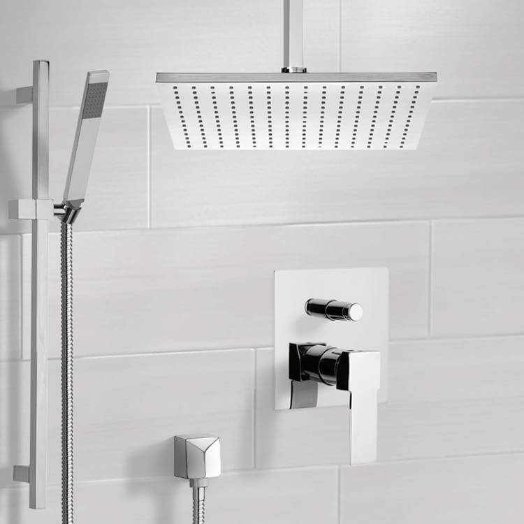 Shower Faucet, Remer SFR7505-CR, Chrome Shower System with Ceiling 12