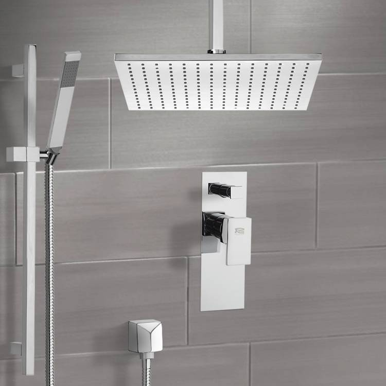 Shower Faucet, Remer SFR7506-CR, Chrome Shower System with Ceiling 12