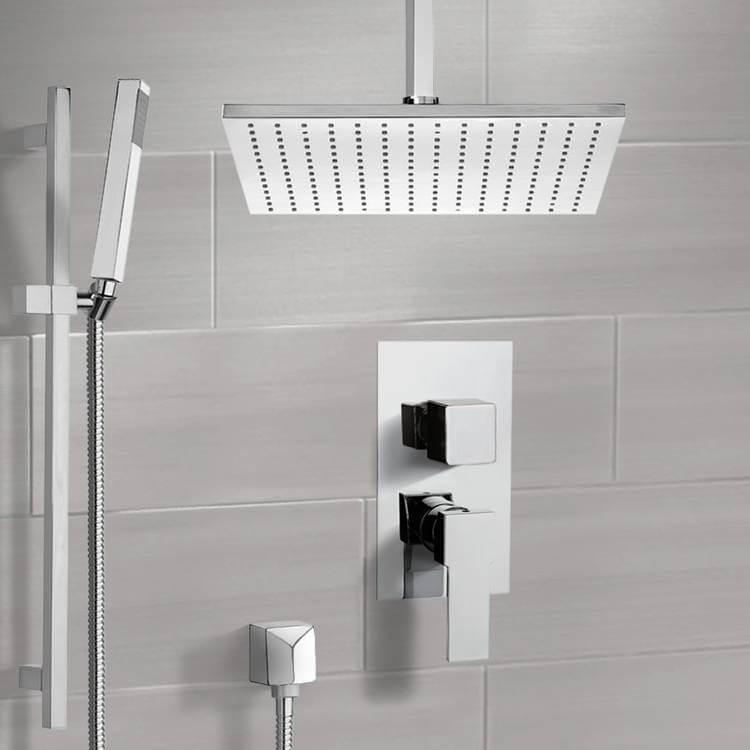 Shower Faucet, Remer SFR7507-CR, Chrome Shower System with Ceiling 12