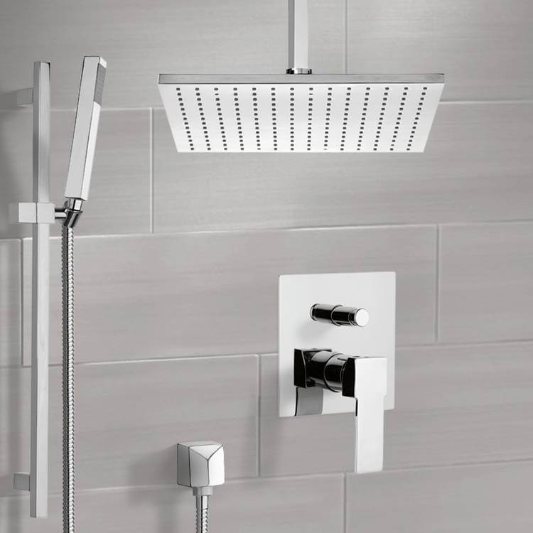 Shower Faucet, Remer SFR7508-CR, Chrome Shower System with Ceiling 12