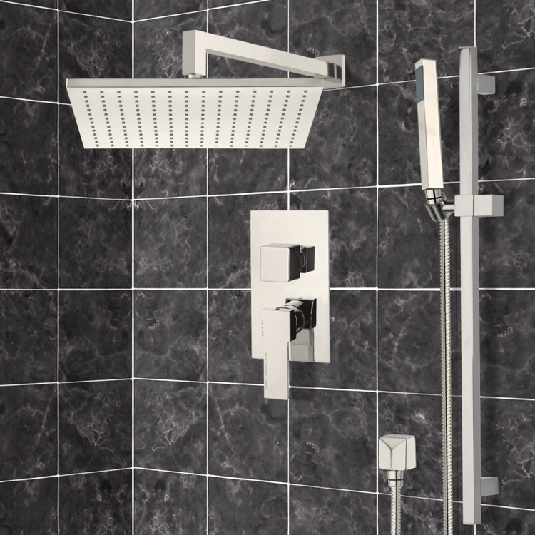 Satin Nickel Shower System with 12\