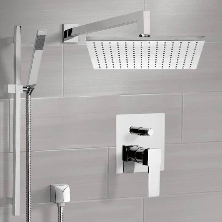 Shower Faucet, Remer SFR7511-CR, Chrome Shower System with 12