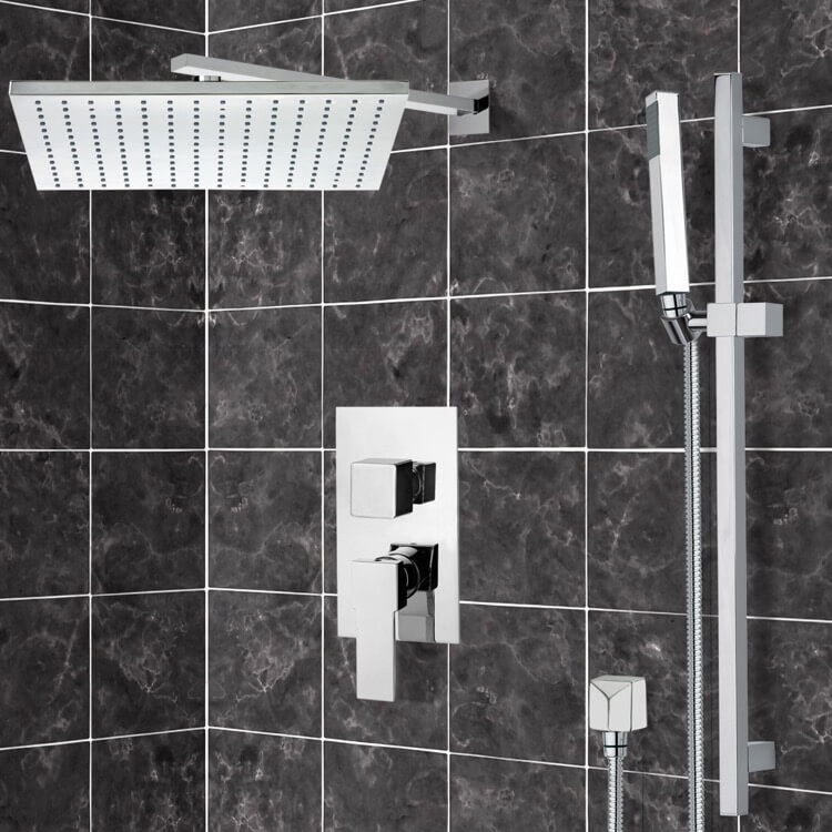 Shower Faucet, Remer SFR7516-CR, Chrome Shower System with 12