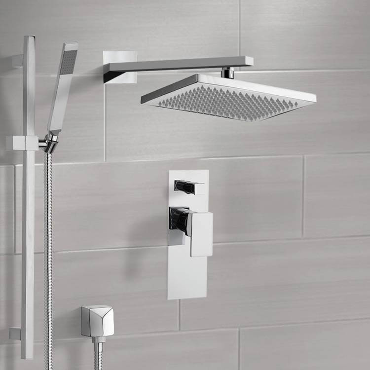 Shower Faucet, Remer SFR7543-CR, Chrome Shower System with 9.5