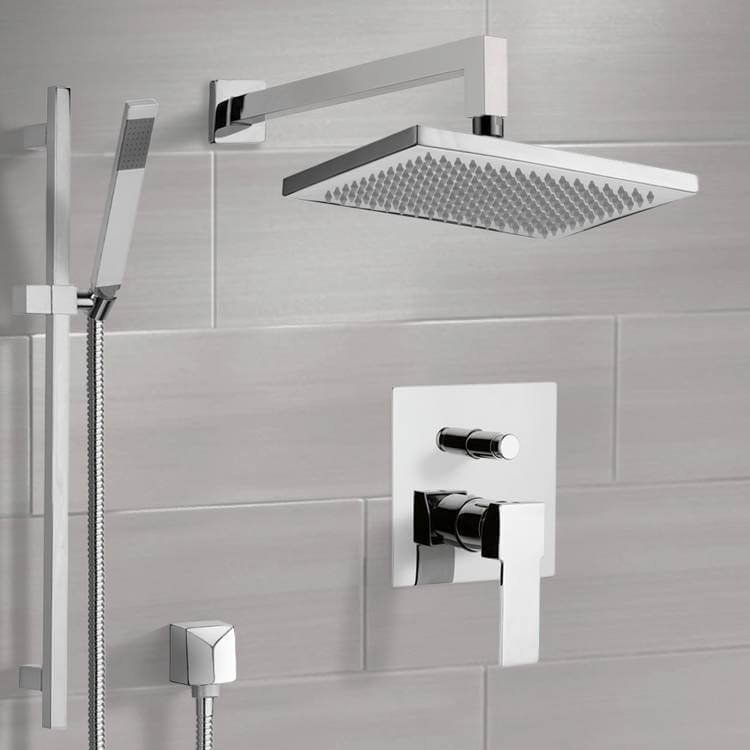 Shower Faucet, Remer SFR7545-CR, Chrome Shower System with 9.5