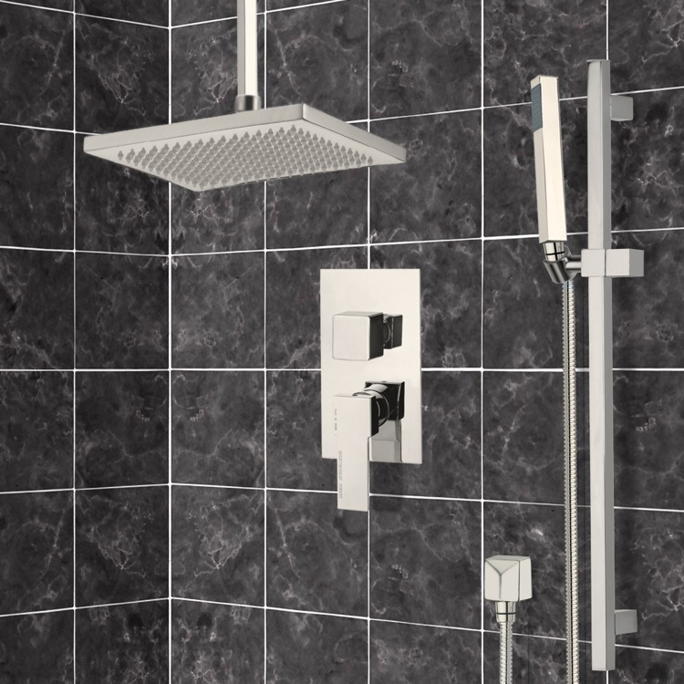 Remer SFR7546-NP By Nameek\'s Autunno Satin Nickel Shower System with ...