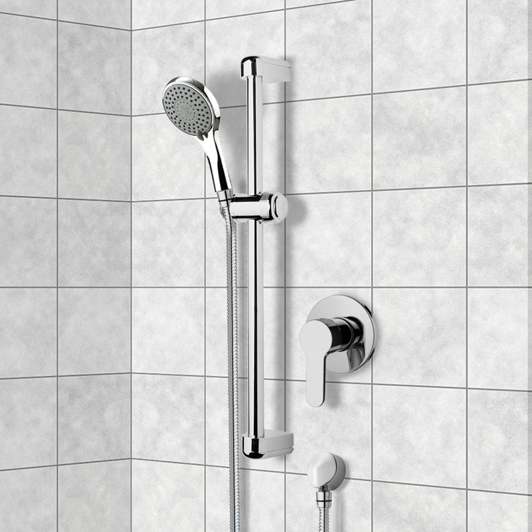 Chrome Slidebar Shower Set With Multi Function Hand Shower, Remer ...