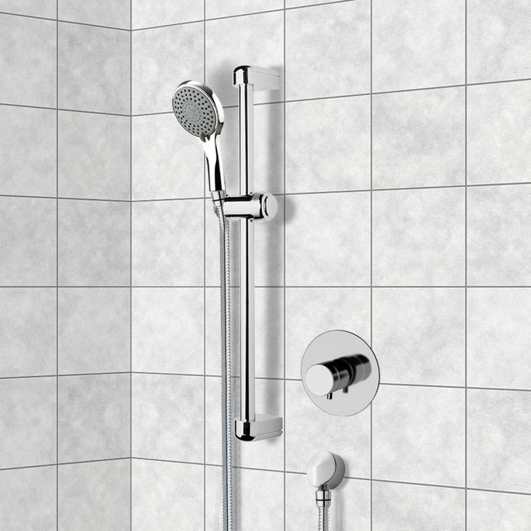 Chrome Thermostatic Slidebar Shower Set With Multi Function Hand ...